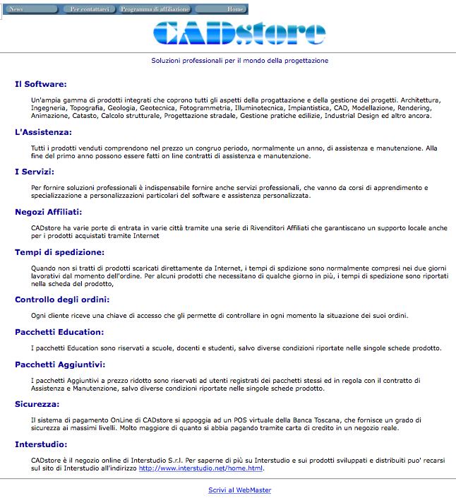 CADstore nel 2001