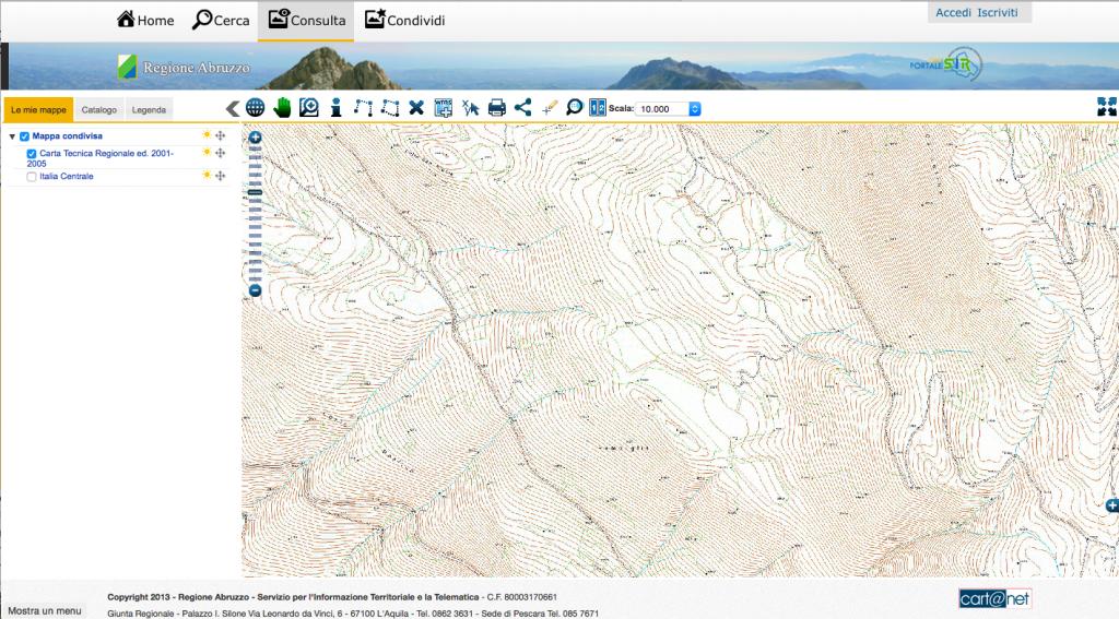 cartografia Abruzzo