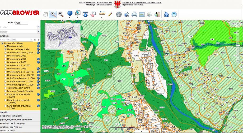cartografia bolzano