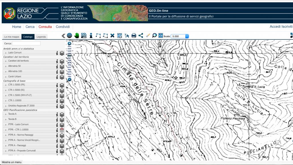 cartografia lazio