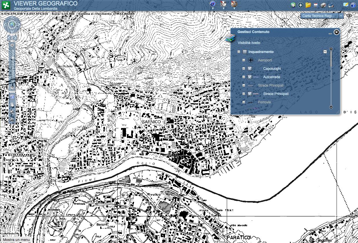Mappa Sardegna 1954.Cartografia Tecnica On Line In Italia Interstudio News