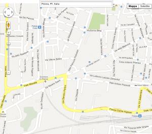 Mappa di Pistoia