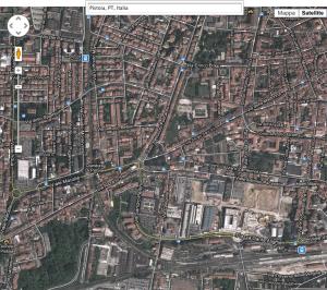 Pistoia mappa da satellite