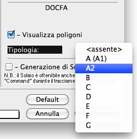 Scelta tipologia DOCFA